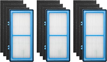 Colorfullife 3 + 9 Pack Air Filters for Holmes AER1 HEPA Type Total Air Filter Replacement Filters for HAPF30AT and HAP242-NUC, 3 HEPA + 9 Carbon Booster Filters
