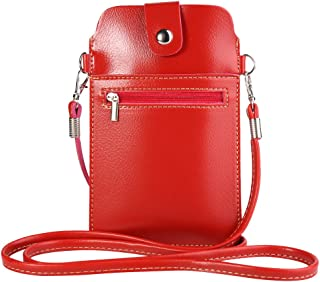 Women's PU Leather Small Wallet Purse Cellphone Crossbody Bag for Apple iPhone XR/XS Max / 8 7 Plus/HTC Desire 12+ / U12+ / Huawei P20 Pro/Mate 10 / Nokia 7 Plus 2.1 6 Red