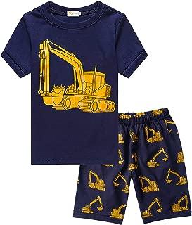 Little Hand Toddler Boys Pajamas 100% Cotton Summer Pjs for Boy Jammies Dinosaur Train Sleepwear Short Sets