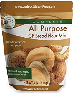 Judee's All Purpose Gluten Free Bread Flour Mix - Make Bread, Pizza Crusts, Bagels, Buns, English Muffins, Focaccia and mo...