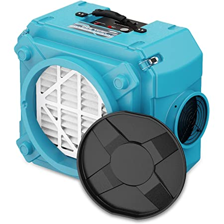 ALORAIR CleanShield HEPA 550 Industrial Commercial HEPA Air Scrubber for Damage Restoration, cETL Listed, GFCI Outlet, 10 Years Warranty, Blue
