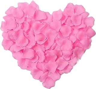 2000 pétalos de rosa flores de la boda adorno artificiales rose pétalos de la flor roja fiesta de bodas decoración del florero decoración de la novia de la boda de la familia. Rosado