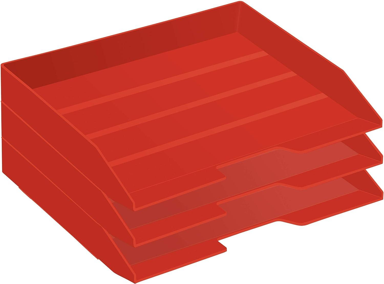 Acrimet Stackable Letter Tray 3 Albuquerque Mall Tier Plastic Ranking TOP20 Desktop F Side Load