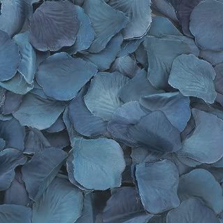 Koyal Wholesale 200-Pack Silk Rose Petals, Navy Blue
