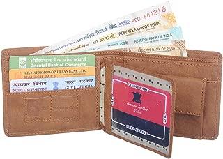 MUNDKAR TAN Leather Wallet with RIFID Protection (Tan)