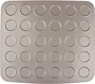 MyLifeUNIT 30 Cavity Carbon Steel Whoopie Pie Pan, Non Stick Macaron Baking Sheet, 11