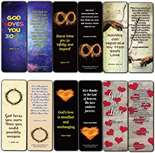 Christian Love You 3000 Bookmarks (60 Pack) - Perfect Gift Away for Sunday School