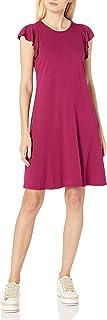 فستان نسائي سهل الكشكشة من ثلاث نقاط