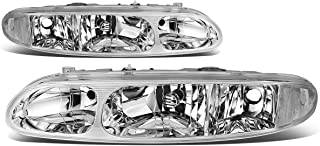 For Oldsmobile Alero Left+Right Chrome Housing Clear Corner Headlight/Lamps
