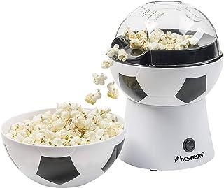 Bestron Machine à Pop Corn Football, Funcooking, 1200 Watt, Noir/Blanc