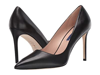 Stuart Weitzman Leigh 95mm Pump (Black Dress Nappa) Women