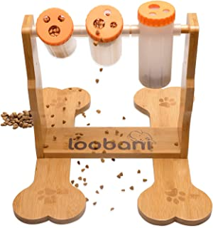LOOBANI Dogs Food Puzzle Feeder Toys for IQ Training & Mental Enrichment, Interactive Funny Entertainment Pass Time Games ...