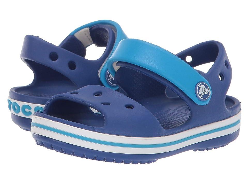 79ab631a6672 Crocs Kids Crocband Sandal (Toddler Little Kid) (Cerulean Blue Ocean)