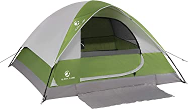 ALPHA CAMP 2~4 Person Camping Dome Tent with Carry Bag, Lightweight Waterproof Portable Backpacking Tent for Outdoor Camping/Hiking