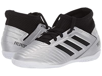 adidas Kids Predator 19.3 IN Soccer (Little Kid/Big Kid) (Silver/Black/Hi-Red Red) Kids Shoes