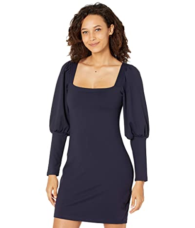 Susana Monaco Puff Sleeve Square Neck Dress Women