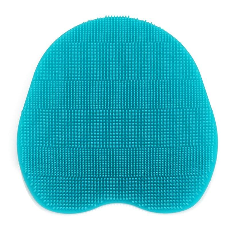 見通しスワップ全国Kapmore シリコンブラシ ウォッシュ ボディブラシ マッサージ シャワー 肌にやさしい 体洗い 風呂 フットケア 4色選択可能 衛生 角質取り 毛穴清潔 泡立ち 多機能 (シアン)