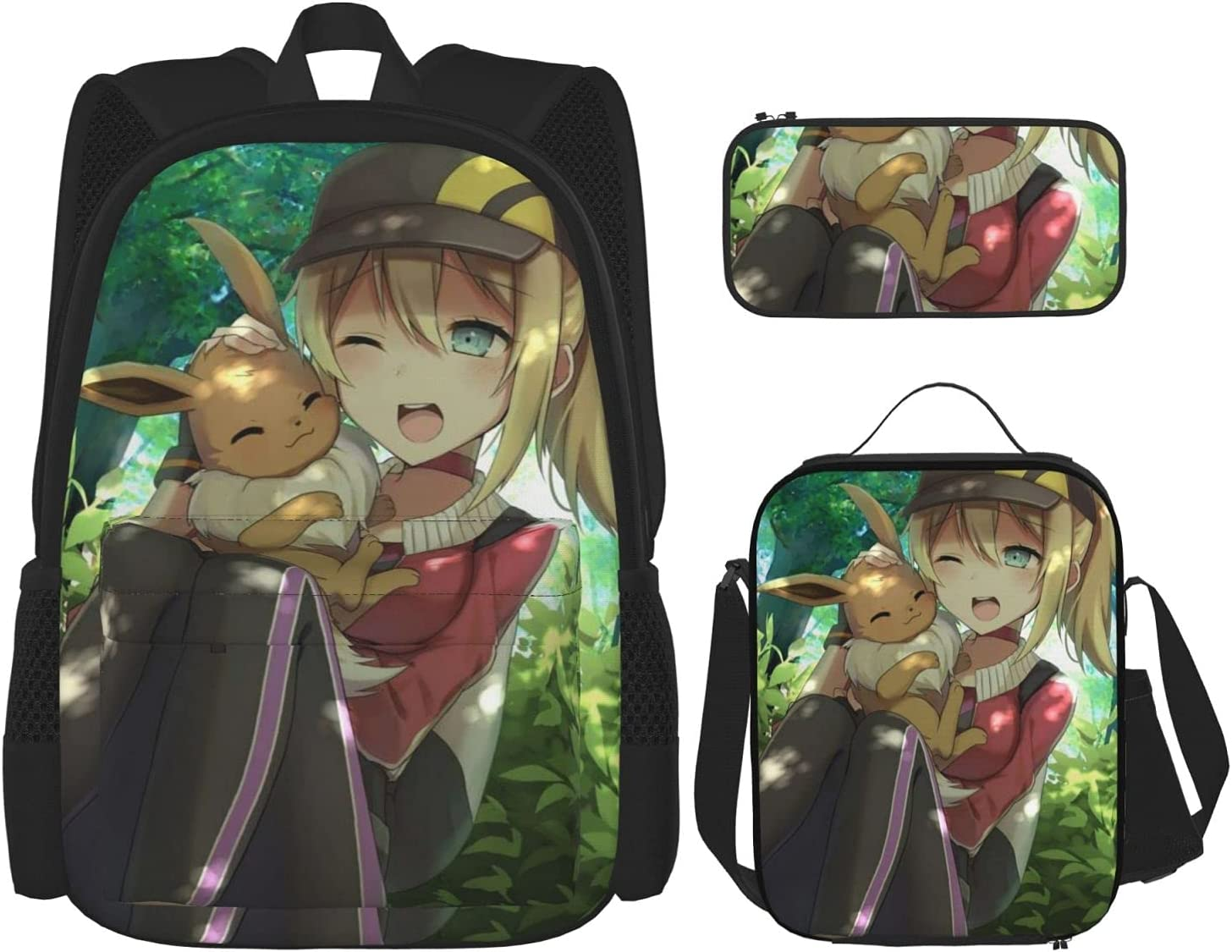 Pokemon Backpack Adult Super sale period limited Children'S School Bag Complete Free Shipping Cartoon Print Anime