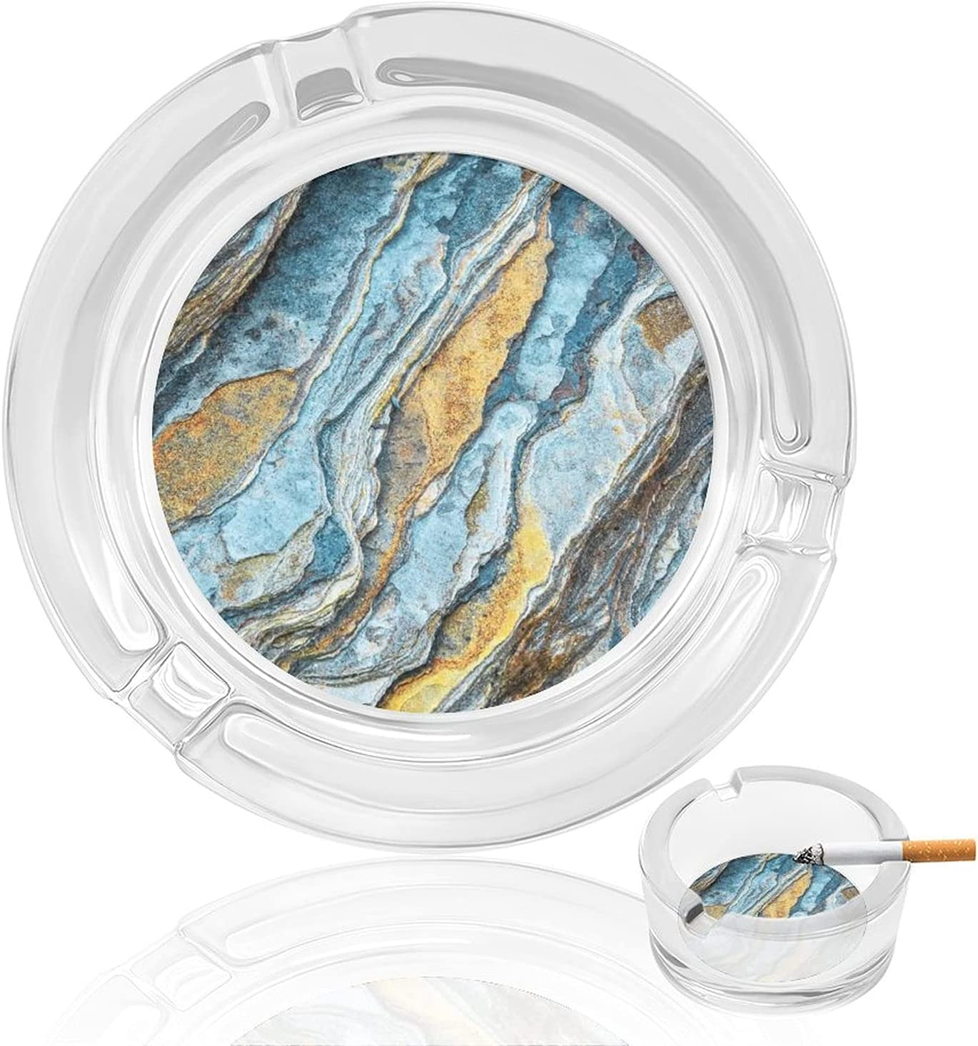 Rocks Stacked Smoking Ashtray Glass Tray Ash Cigar New Orleans Mall Cus Cigarette Raleigh Mall
