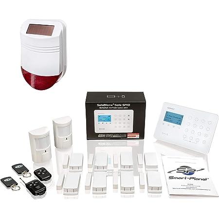 Safe2home Sp110 Set Di Allarmi Radio Con Protezione Da Sabotaggio E Sirena Solare Sistema Di