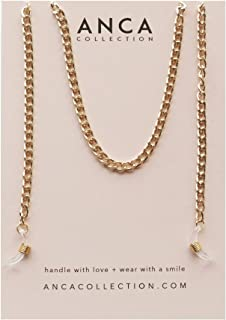 Anca Collection - Gold Link Eyewear Chain - Sunglass Sunglasses Eyeglass Glasses Spectacles Holder Cord Neck Strap Holder ...