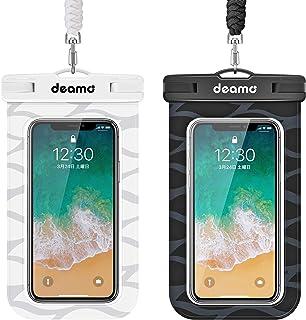 防水ケース「2枚入」IPX8認定 スマホ防水ケース 顔認証対応 iPhone 12/11 pro Max/Xs Max/8 Plus/7plus、Sharp Aquos,Sony Xperia,Samsung Galaxy等7.0インチ以下スマ...
