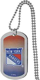 NHL New York Rangers Team Tag Necklace, Steel, 26