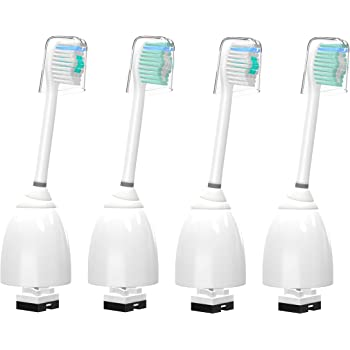 WuYan 4pcsToothbrush for Philips Sonicare E Series, 4 Pack Replacement Brush Heads Compatible with Essence, Elite, Xtreme, Advance and CleanCare