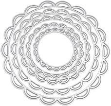 5pcs Flower Circle Cutting Dies, U-horizon DIY Scrapbooking Metal Embossing Stencil (Shipped by AMAZON) For Album Paper Ca...