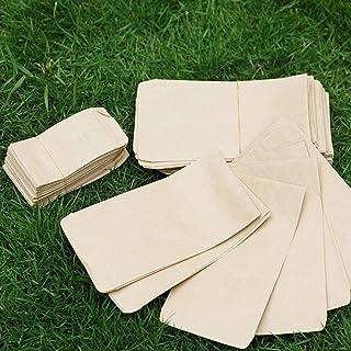 100pcs Kraft Paper Bag Seed Storage Bag Portable Seed Bag Packaging Pouch Garden Tool (6x10cm/9x13cm/10x17cm/12x18cm/12x20...
