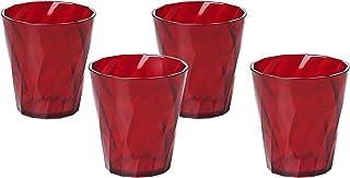 Omada Design 4 Verres Eau 35 cl, plastique de qualité optique et transparent, très résistantes et lavables au lave-vaissel...