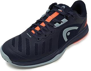 HEAD Men's Sprint Team 3.0 2021 Tennis Shoe, Dark Blue/Neon Red