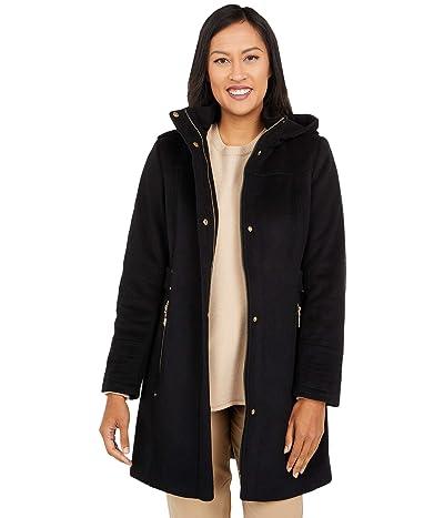 Vince Camuto Hooded Wool Coat V20770-ZA (Black) Women