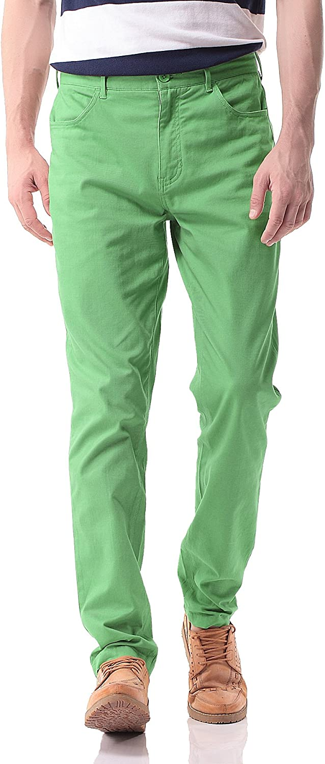 Pau1Hami1ton Max 80% OFF Men's Casual Chinos Pants 4 years warranty Slim Tapered Wor Stretchy
