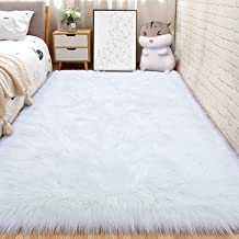 AND BEYOND INC Faux Fur Sheepskin Area Rugs Fluffy Wool Carpet for Girls Room Bedroom Living Room Home Decor Rug (3ft x 5f...