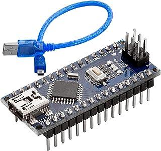 AZDelivery Nano V3.0 con ATmega328 Chip CH340 y 5V 16MHz versión soldada, Micro Controlador Board, versión mejorada con Ca...