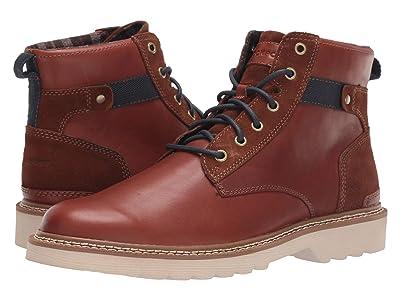 Rockport Peirson Plain Toe Boot (Tan Leather/Suede) Men
