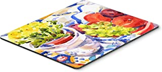 Caroline's Treasures Apples, Plums & Grapes with Flowers Mouse Pad/Hot Pad/Trivet (6037MP)