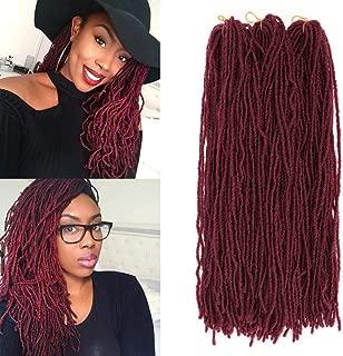K&G HAIR 5Pcs/Lot Straight Goddess Locs Crochet Hair 18inch Micro Sister Lock Crochet Braids 54 Roots Mini Locs for Twist Braiding Hair Extensions(#BUG)