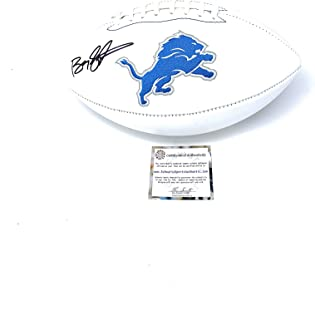 Barry Sanders Detriot Lions Signed Autograph Embroidered Logo Football Schwartz Sports Certified