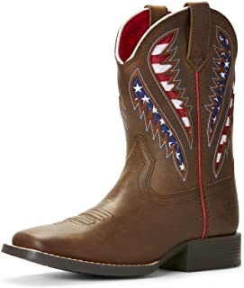 ARIAT Boys' Venttek Quickdraw Patriotic Western Boot Wide Square Toe