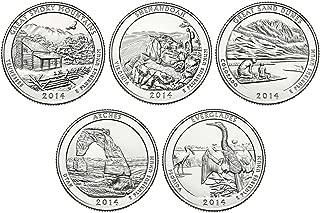 2014 P, D BU National Parks Quarters - 10 coin Set Uncirculated