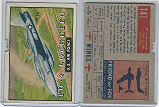 1952 Topps, Wings, 141 To-2 Lockeheed, US Air Force