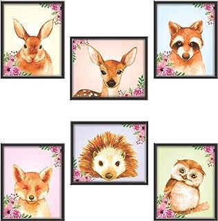 PARTH IMPEX Woodland Animals Wall Art Prints - (Set of 6)...