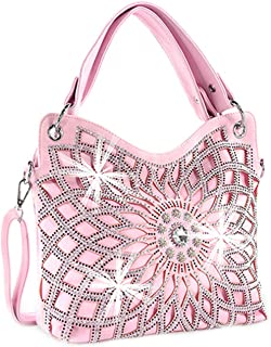Zzfab Double Handles Starburst Bling Purse