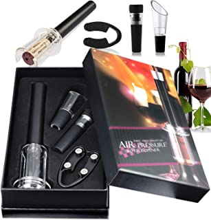 Wine Opener Set,V·RESOURCING Wine Accessory Tool Kit:Air Pressure Bottle Opener with..