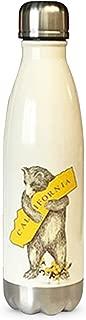 I Love California Bear Hug Stainless Steel Water Bottle - Antique White