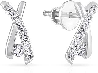 Malabar Gold & Diamonds 950 Platinum Stud Earrings for Women