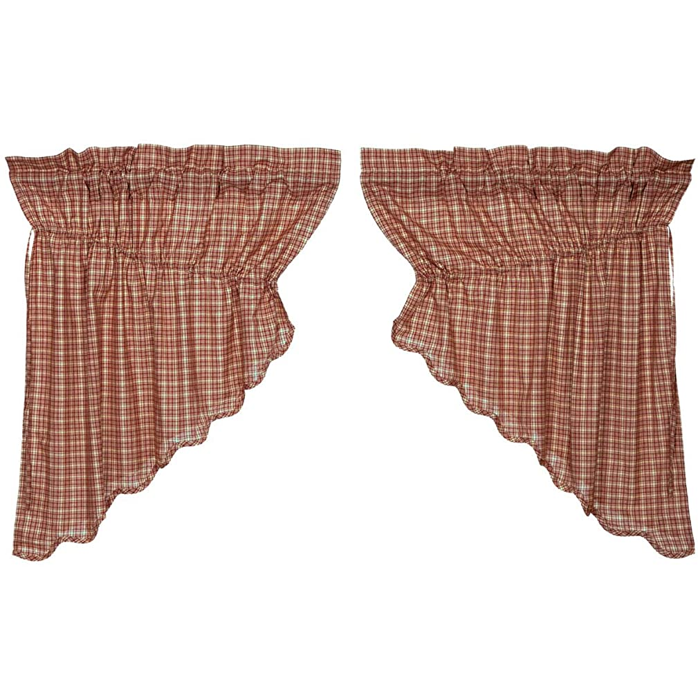 VHC Brands Independence Scalloped 24992 Prairie Swag Set
