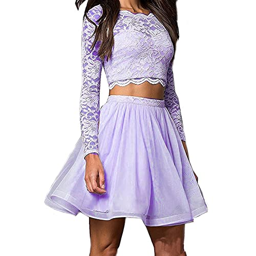 2 Piece Lavender Prom Dress Short Amazoncom
